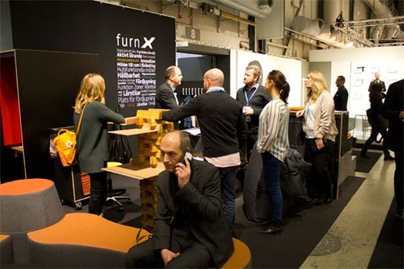 FurnX messestand Stockholm furniture fair 2small Stor interesse for nye tanker inden for indretning af læringsrum